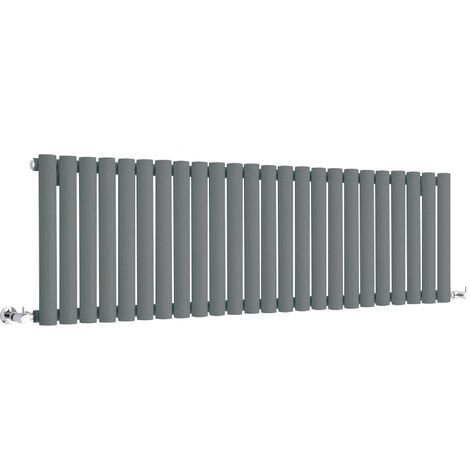Hudson Reed Vitality – Radiateur Design Horizontal Compact – Anthracite – 40 x 141,1cm