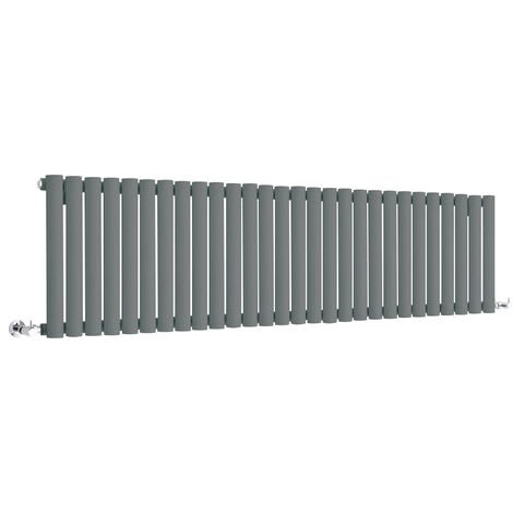 Hudson Reed Vitality – Radiateur Design Horizontal Compact – Anthracite – 40 x 164,7cm