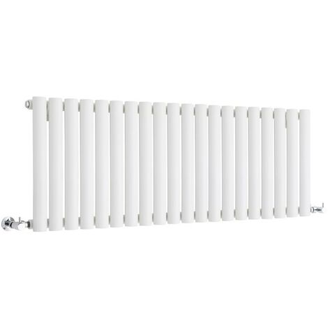 Hudson Reed Vitality – Radiateur Design Horizontal Compact – Blanc – 40 x 118cm