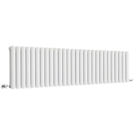 Hudson Reed Vitality – Radiateur Design Horizontal Compact – Blanc – 40 x 164,7cm Double Rang