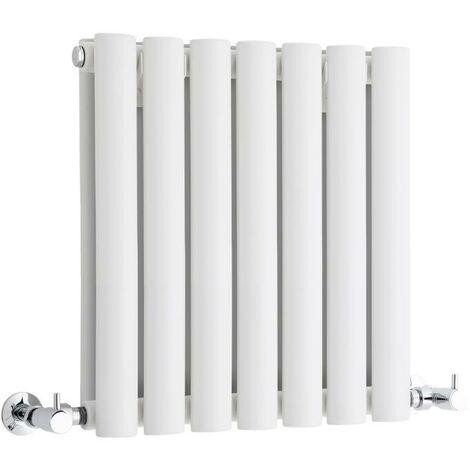 Hudson Reed Vitality – Radiateur Design Horizontal Compact – Blanc – 40 x 41,5cm Double Rang