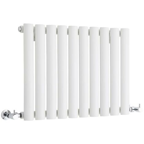 Hudson Reed Vitality – Radiateur Design Horizontal Compact – Blanc – 40 x 59,5cm