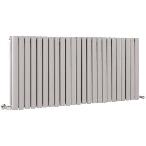 Hudson Reed Vitality – Radiateur Design Horizontal – Gris clair - 63,5 x 141,1 cm