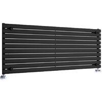 Hudson Reed Vitality – Radiateur Design Horizontal – Noir – 59 x 160cm