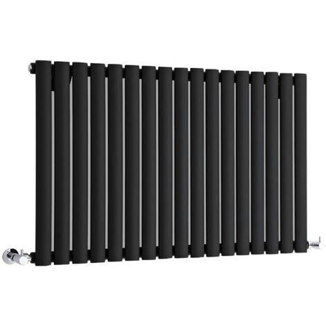 Hudson Reed Vitality – Radiateur Design Horizontal – Noir – 63,5 x 100cm