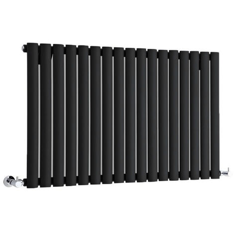 Hudson Reed Vitality – Radiateur Design Horizontal – Noir – 63,5 x 83,4cm