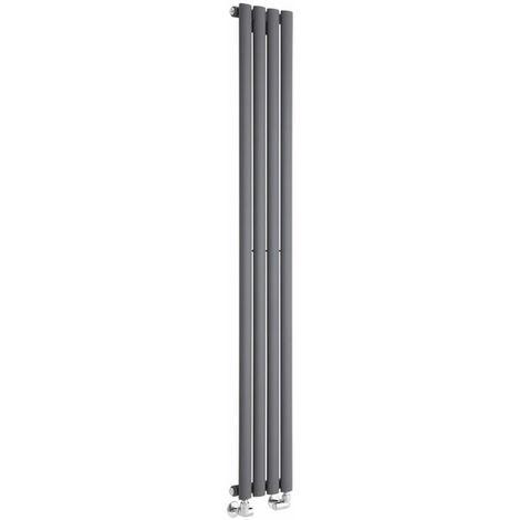 Hudson Reed Vitality – Radiateur Design Vertical – Anthracite – 160 x 23,6cm