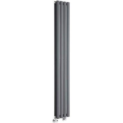 Hudson Reed Vitality – Radiateur Design Vertical – Anthracite – 160 x 23,6cm Double Rang