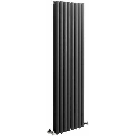 Hudson Reed Vitality – Radiateur Design Vertical – Anthracite – 160 x 47,2cm Double Rang