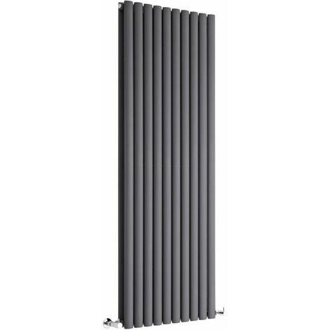 Hudson Reed Vitality – Radiateur Design Vertical – Anthracite – 160 x 59cm Double Rang