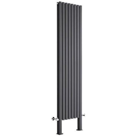 Hudson Reed Vitality – Radiateur Design Vertical – Anthracite – 178 x 23,6cm