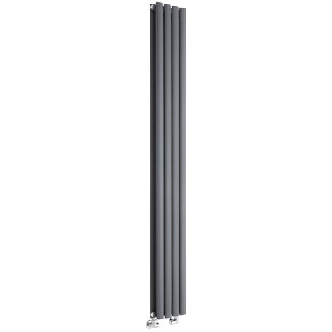 Hudson Reed Vitality – Radiateur Design Vertical – Anthracite – 178 x 23,6cm Double Rang