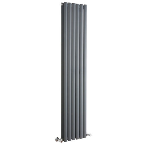Hudson Reed Vitality – Radiateur Design Vertical – Anthracite – 178 x 35,4cm Double Rang