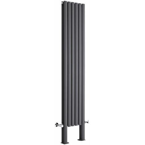 Hudson Reed Vitality – Radiateur Design Vertical – Anthracite – 180 x 35,4cm Double Rang