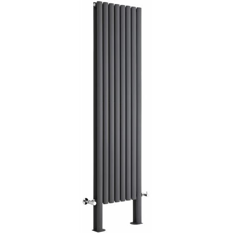Hudson Reed Vitality – Radiateur Design Vertical – Anthracite – 180 x 47,2cm Double Rang