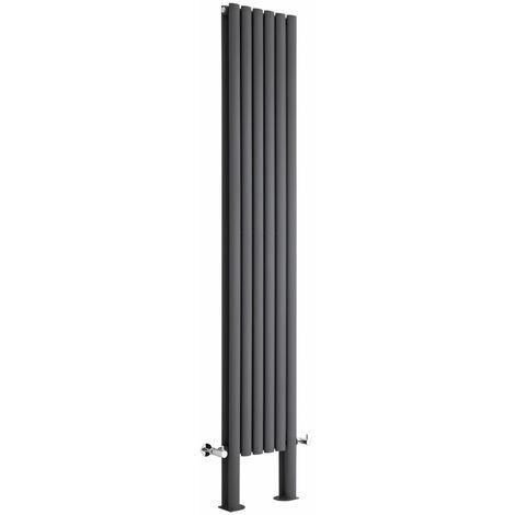 Hudson Reed Vitality – Radiateur Design Vertical – Anthracite – 200 x 35,4cm Double Rang