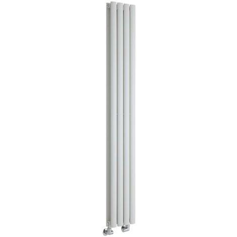 Hudson Reed Vitality – Radiateur Design Vertical – Blanc – 160 x 23,6cm Double Rang