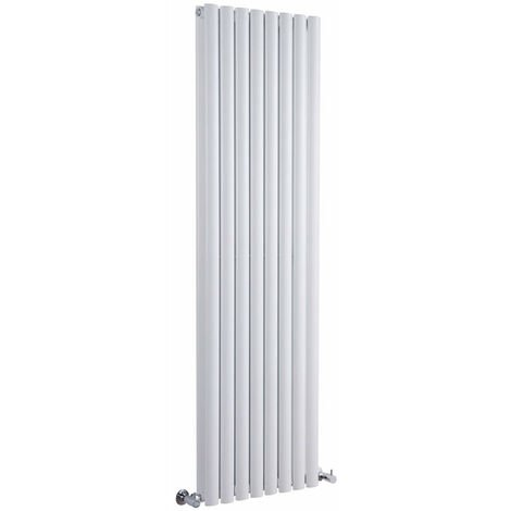 Hudson Reed Vitality – Radiateur Design Vertical – Blanc – 160 x 35,4cm Double Rang