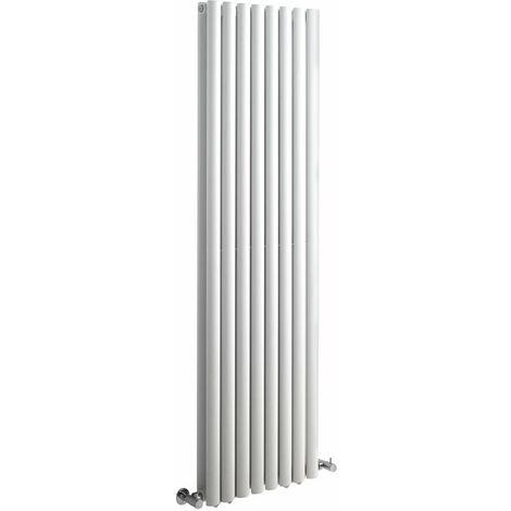 Hudson Reed Vitality – Radiateur Design Vertical – Blanc – 160 x 47,2cm Double Rang