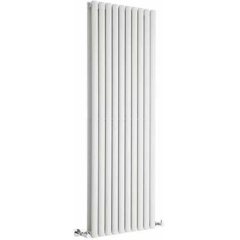 Hudson Reed Vitality – Radiateur Design Vertical – Blanc – 160 x 59cm Double Rang