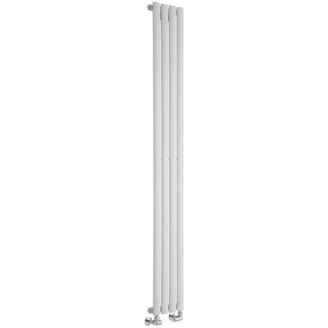 Hudson Reed Vitality – Radiateur Design Vertical – Blanc – 178 x 23,6cm