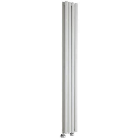Hudson Reed Vitality – Radiateur Design Vertical – Blanc – 178 x 23,6cm Double Rang