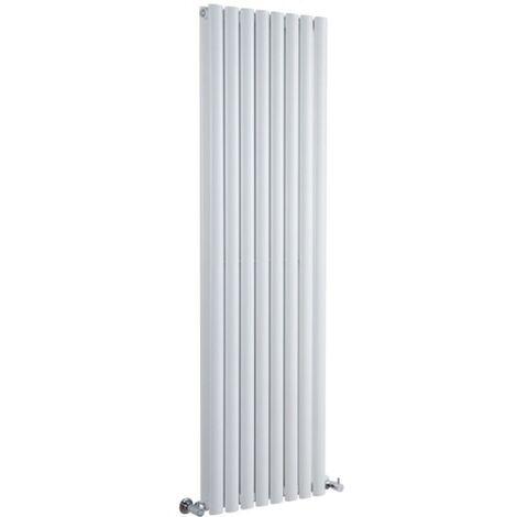Hudson Reed Vitality – Radiateur Design Vertical – Blanc – 178 x 47,2cm Double Rang