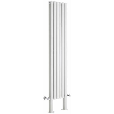 Hudson Reed Vitality – Radiateur Design Vertical – Blanc – 180 x 35,4cm Double Rang