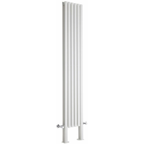 Hudson Reed Vitality – Radiateur Design Vertical – Blanc – 200 x 35,4cm Double Rang