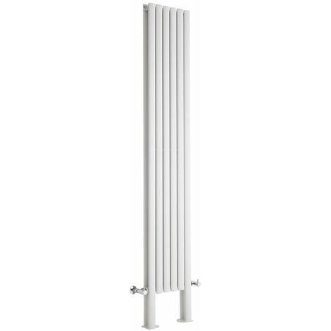 Hudson Reed Vitality – Radiateur Design Vertical – Blanc – 200 x 47,2cm Double Rang