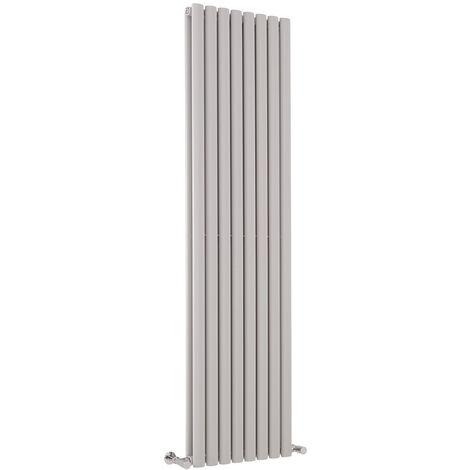 Hudson Reed Vitality – Radiateur Design Vertical – Gris clair - 178 x 47,2 cm