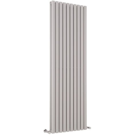 Hudson Reed Vitality – Radiateur Design Vertical – Gris clair - 178 x 59 cm