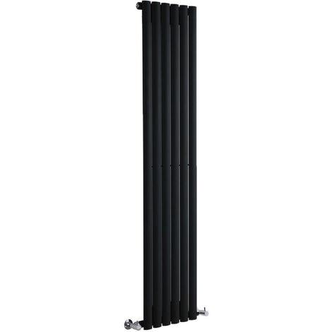 Hudson Reed Vitality – Radiateur Design Vertical – Noir – 160 x 35,4cm