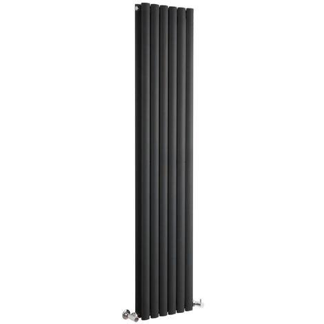 Hudson Reed Vitality – Radiateur Design Vertical – Noir – 160 x 35,4cm Double Rang