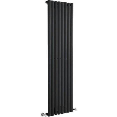 """main image of """"Hudson Reed Vitality – Radiateur Design Vertical – Noir – 160 x 47.2cm"""""""