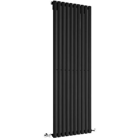 Hudson Reed Vitality – Radiateur Design Vertical – Noir – 160 x 59cm