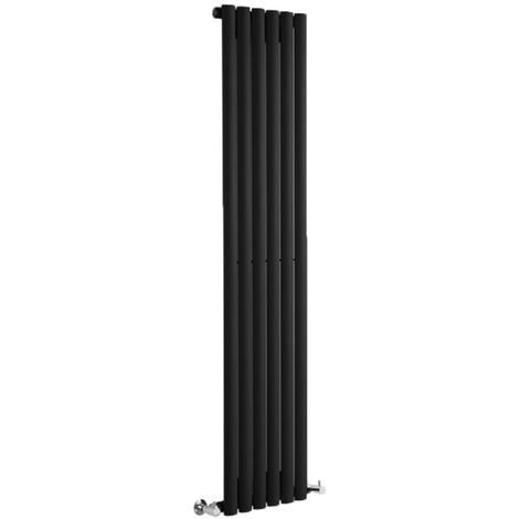 Hudson Reed Vitality – Radiateur Design Vertical – Noir – 178 x 35,4cm