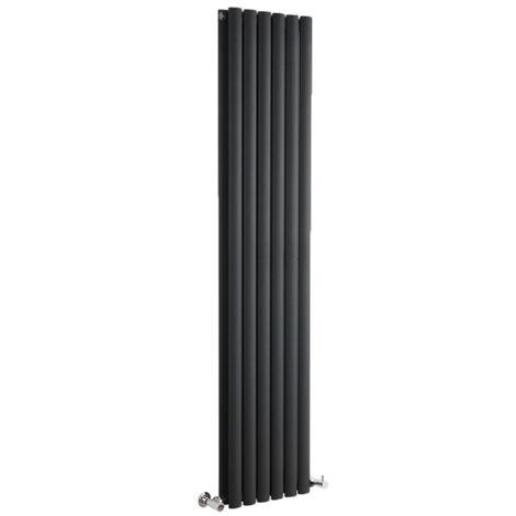 Hudson Reed Vitality – Radiateur Design Vertical – Noir – 178 x 35,4cm Double Rang