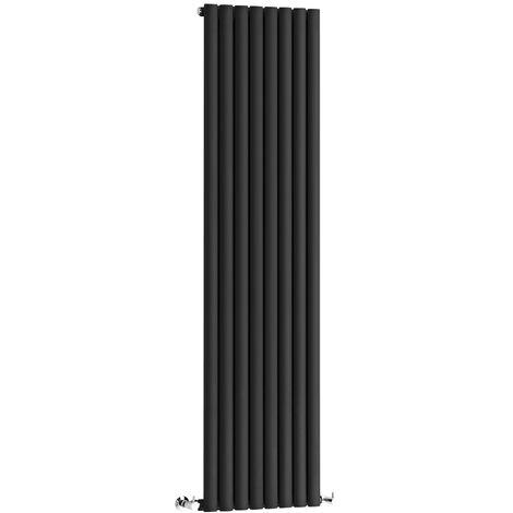 Hudson Reed Vitality – Radiateur Design Vertical – Noir – 178 x 47,2cm
