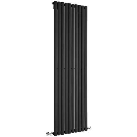 Hudson Reed Vitality – Radiateur Design Vertical – Noir – 178 x 59cm