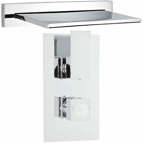 """main image of """"Hudson Reed Waterfall Bath Filler Spout with Concealed Shower Valve - Chrome"""""""