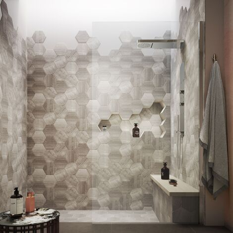 Hudson Reed Wet Room Screen with Support Bar 1200mm Wide - 8mm Glass