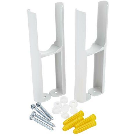 Hudson Reed Windsor - Pied pour radiateur blanc - 22,5 x 9,5 x 7,5cm