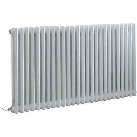Hudson Reed Windsor - Radiateur Électrique Style Fonte Rétro Horizontal Double Rang - Blanc - 60 cm x 119 cm - Choix du thermostat