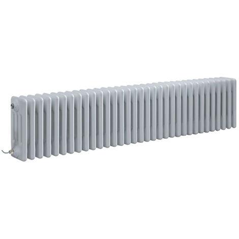 Hudson Reed Windsor - Radiateur Électrique Style Fonte Rétro Horizontal Quatre Rangs - Blanc - 30 cm x 150 5 cm - Choix du thermostat