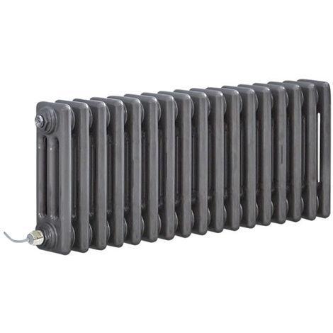 Hudson Reed Windsor - Radiateur Électrique Style Fonte Rétro Horizontal Triple Rang - Acier Brut Laqué - 30 cm x 78 5 cm - Choix du thermostat