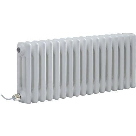 Hudson Reed Windsor - Radiateur Électrique Style Fonte Rétro Horizontal Triple Rang - Blanc - 30 cm x 78 5 cm - Choix du thermostat