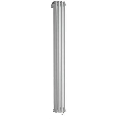 Hudson Reed Windsor - Radiateur Électrique Style Fonte Rétro Vertical Double Rang - Blanc - 150 cm x 20 cm - Choix du thermostat
