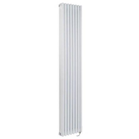 Hudson Reed Windsor - Radiateur Électrique Style Fonte Rétro Vertical Triple Rang - Blanc - 180 cm x 38 cm - Choix du thermostat