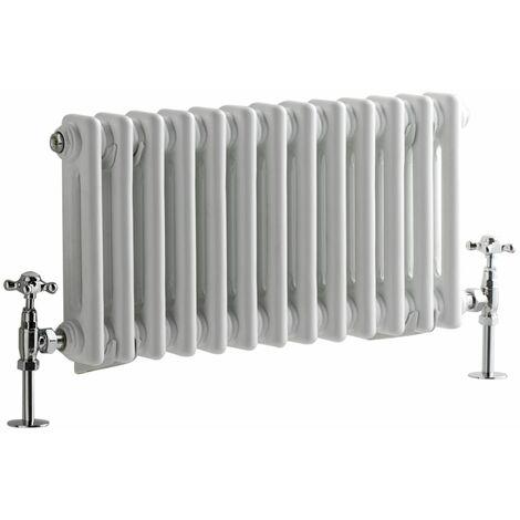 Hudson Reed Windsor - Radiateur Rétro Horizontal Blanc à Colonnes 2 x 13 - 417 Watts - 30 x 60,5cm
